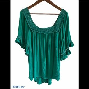Maurices green boho style shirt